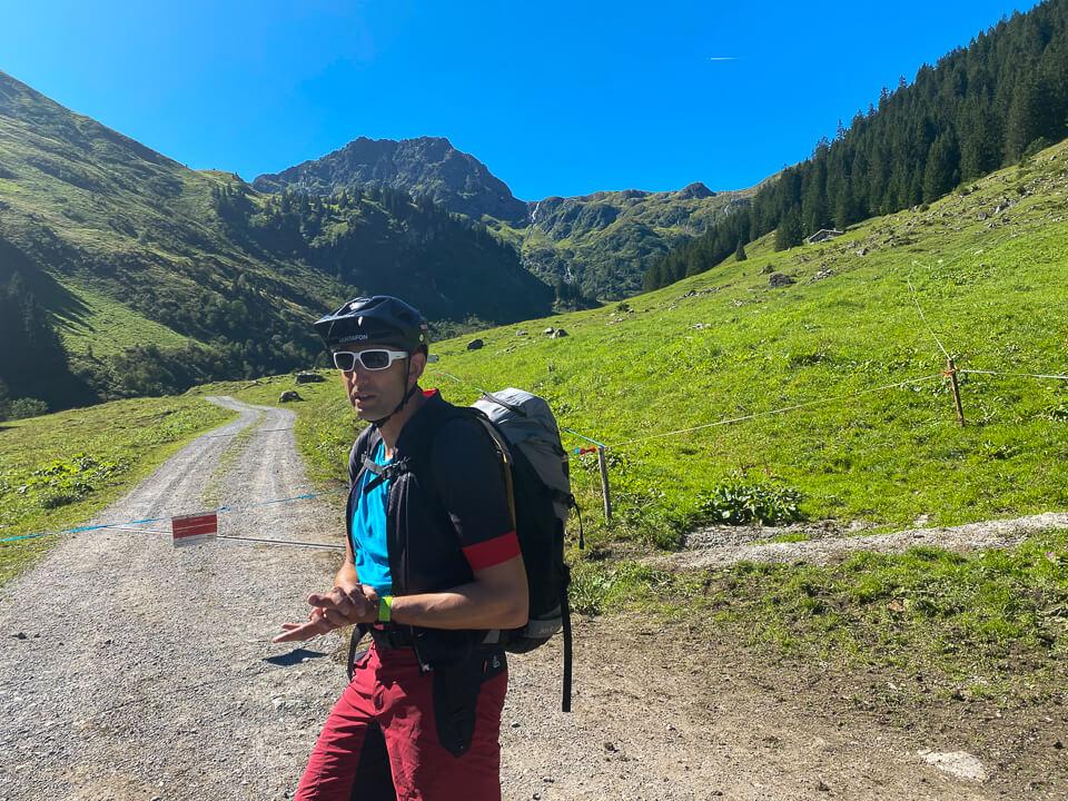 Mit Guide Markus zur Tilisunaalpe im Montafon