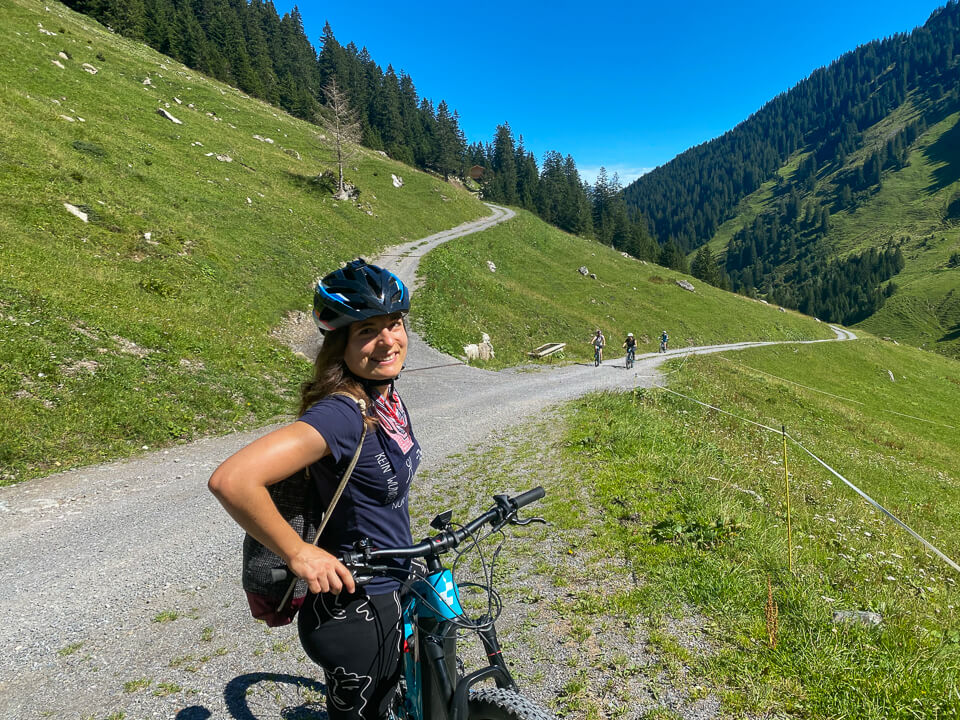 E-Mountainbiken auf der Tilisunaalpe