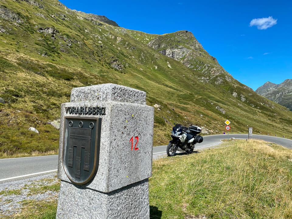Silvretta-Hochalpenstraße zwischen Vorarlberg und Tirol