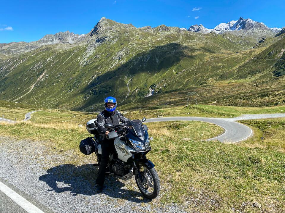 Silvretta-Hochalpenstraße mit dem Motorrad
